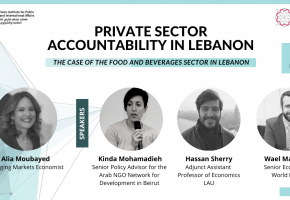 Private Sector Accountability in Lebanon: The Case of the Food and Beverages Sector in Lebanon