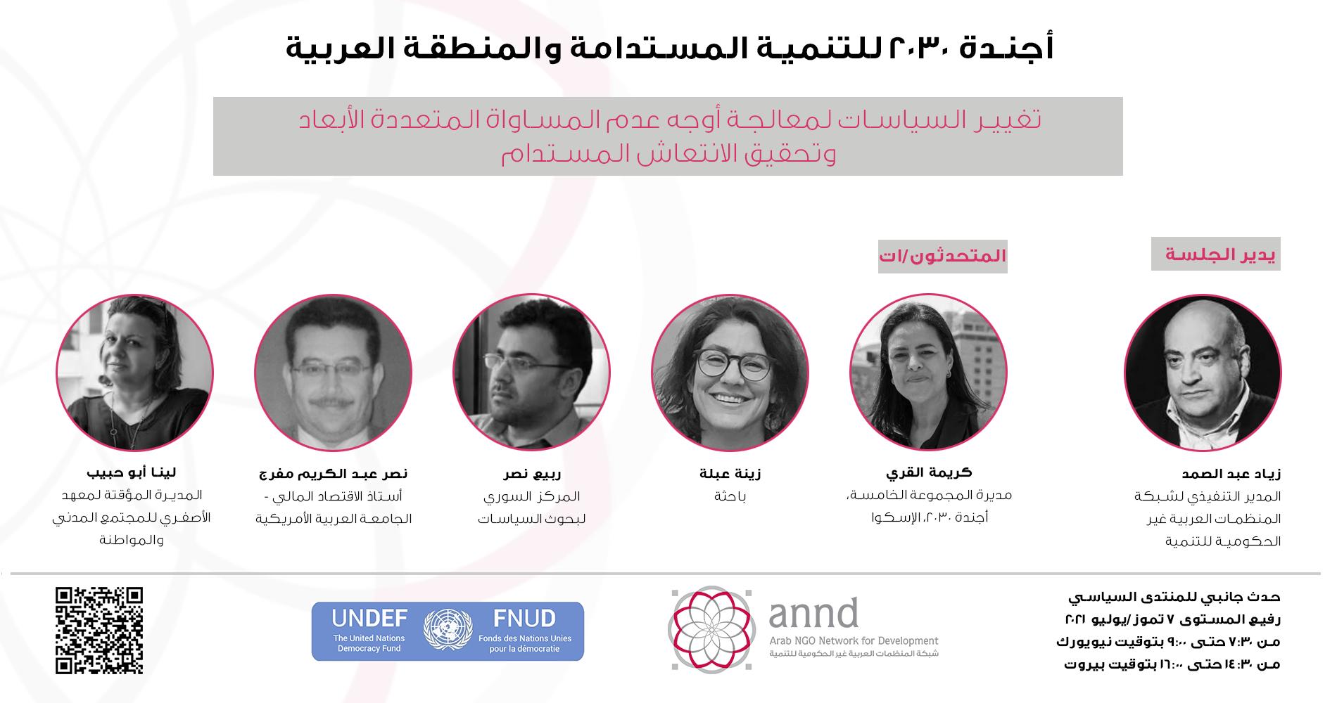 حدث جانبي للمنتدى السياسي رفيع المستوى: أجندة 2030 للتنمية المستدامة والمنطقة العربية