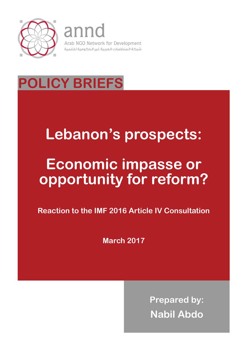 Lebanon's prospects: Economic impasse or opportunity for reform?
