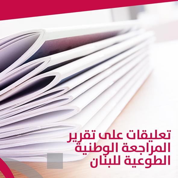 تعليقات على تقرير المراجعة الوطنية الطوعية للبنان