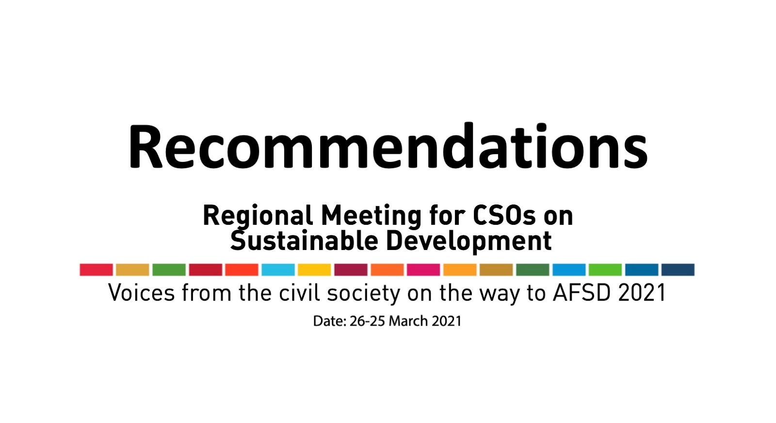 Recommendations: Civil Society Regional Meeting on Sustainable Development in the Arab Region